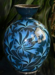 Rare Japanese Cloisonne Enamel Vase - Ando (item #1120091)