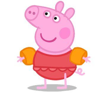 peppa Pig en la piscina