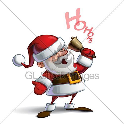 Cartoon Vector Illustration Of A Smiling Santa ...