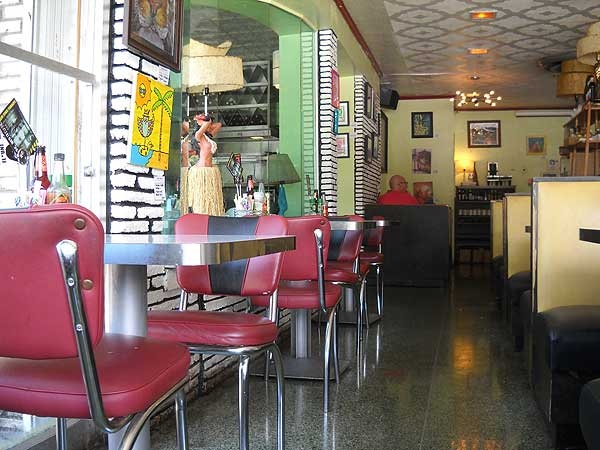 Howley's 1950s Diner in West Palm Beach;  http://www.floridarambler.com/wp-content/uploads/2010/07/howleys-interior.jpg?9d7bd4