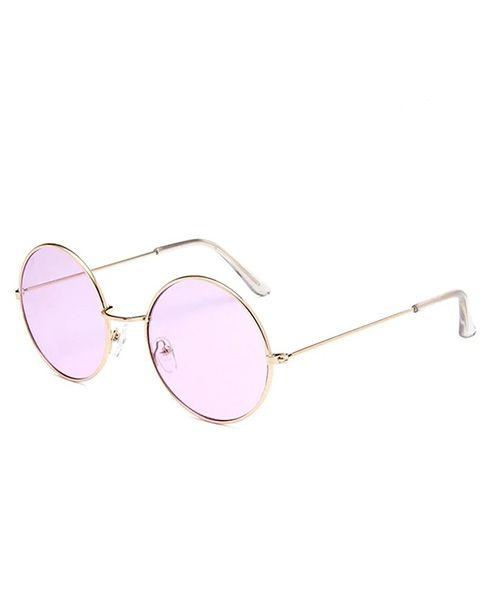 90e4b543d1280 Óculos de sol feminino redondo lente transparente