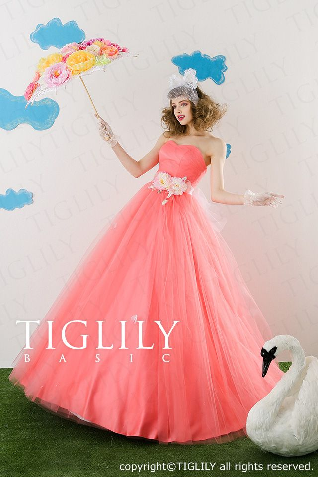 【楽天市場】ウェディングドレス_ウエディングドレス_カラードレス_Aライン_TIGLILY BASIC(cb008):ブライダルアモーレ