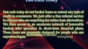 Fast Cash Today Is Simply The Best Financial Option Available In Financial Market