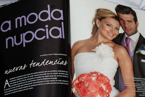 Shooting ProNovias Magazine Guia de Novias con Lee Wasson