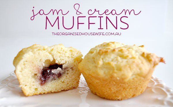A simple recipe to get the kids in the kitchen to make themselves. Tasted just like jam and cream scones. Freezer and lunchbox friendly.