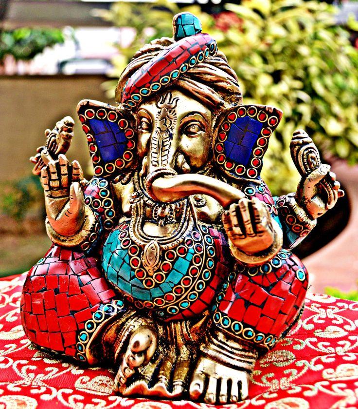 Antique God Ganesha Statue Rare Heavy & by INDIACRAFTSONLINE, $160.00