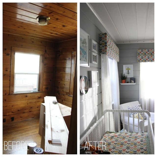 Painting wood paneling... Before and After nursery...  Life in Bridgetown: Baby E's Completed Nursery