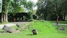 Skulptur der Schildkröte Kassiopeia im Michael-Ende-Kurpark Garmisch-Partenkirchen