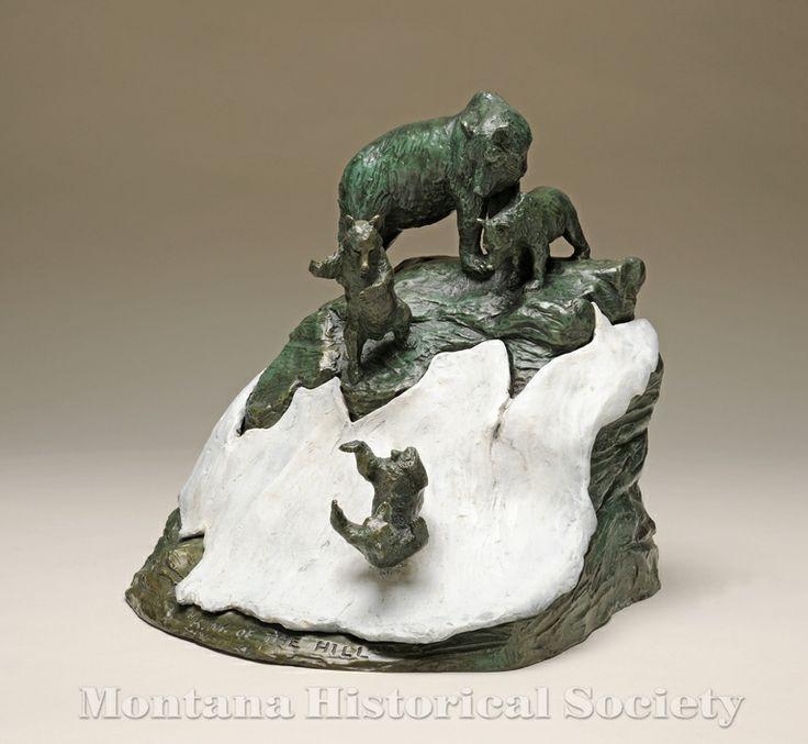 2000.15.66, King of the Hill, Bob Scriver, Bronze, 1993