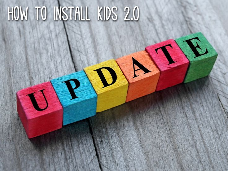 I've been installing Kids 2.0. You know, the update where they learn to do things that are actually useful.