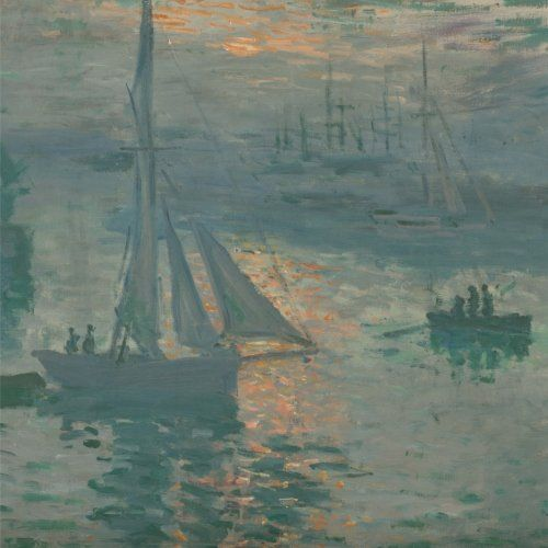 Sunrise (Marine), Claude Monet. Blank journal: 150 blank pages, 8,5 x 8,5 inch (21.59 x 21.59 centimeters) Laminated. (Paper notebook, composition book) by Studio Beeker http://www.amazon.com/dp/1522918116/ref=cm_sw_r_pi_dp_brCFwb02QV7TG