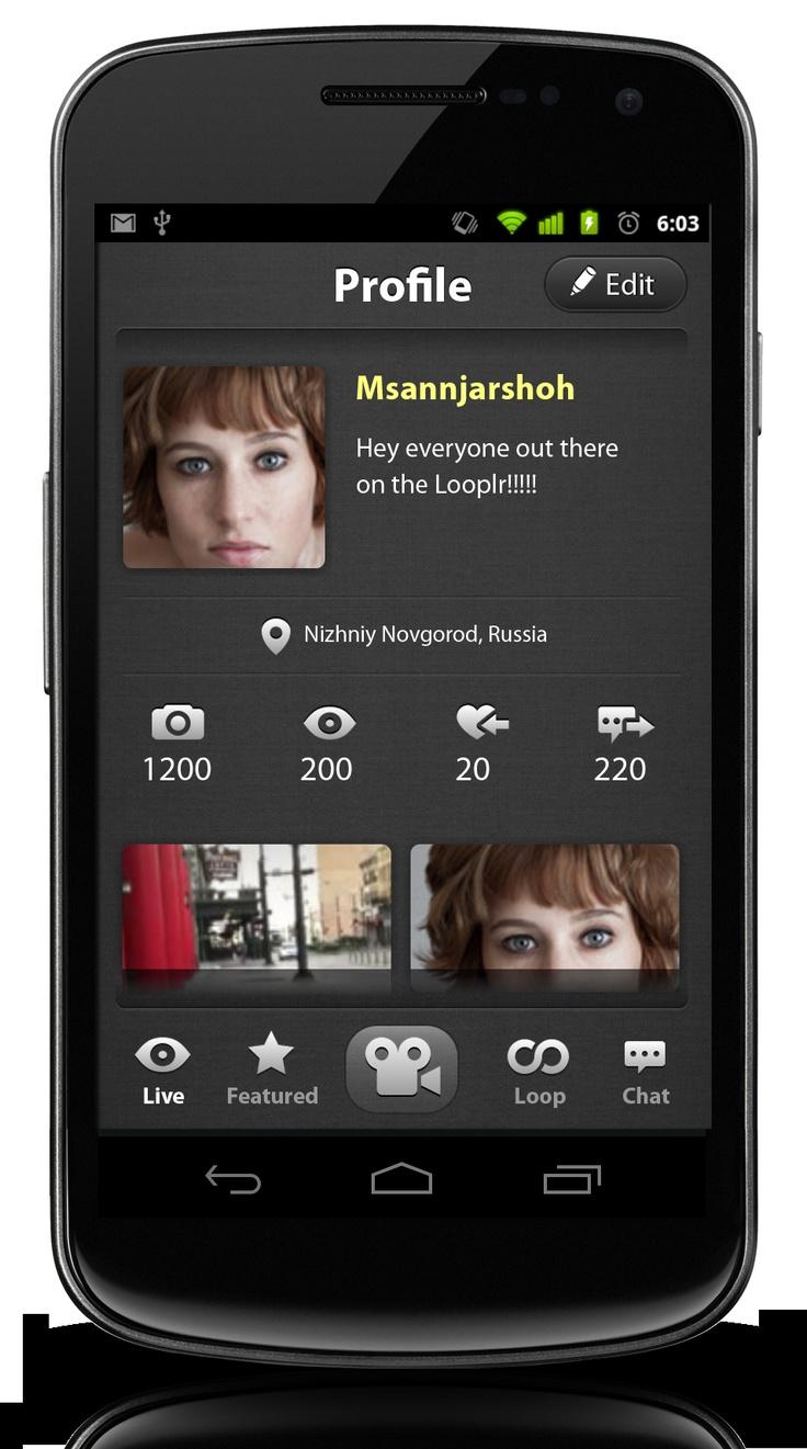 Looplr Profile Screenshot.  Get the Looplr App Now  www.looplr.com
