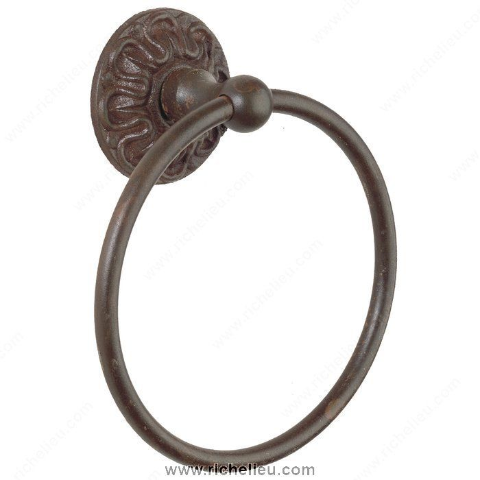 Towel Ring - Louis XV Series - L250319 - LB Brass