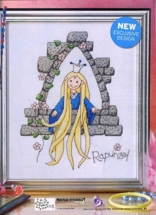 Rapunzel The World of Cross Stitching Issue 115 October 2006 Saved