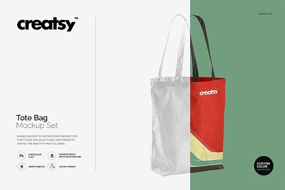 Tote Bag Mockup Set by Creatsy on @creativemarket