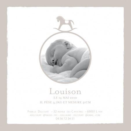 Faire-part de naissance(baby announcement): Petit cheval photo - by Tomoë pour http://www.fairepartnaissance.fr #naissance #faire #part #birth
