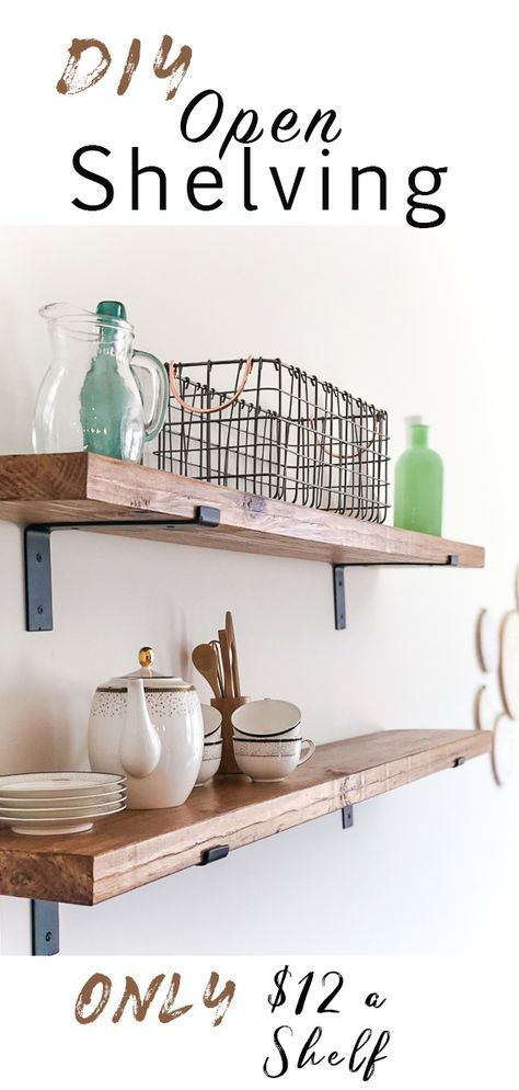 DIY Open Shelving Hello! I hope you had a great Easter!!  Iu2019m back this week with my good friend, Aubrey, sharing a recent DIY she tackled in he…