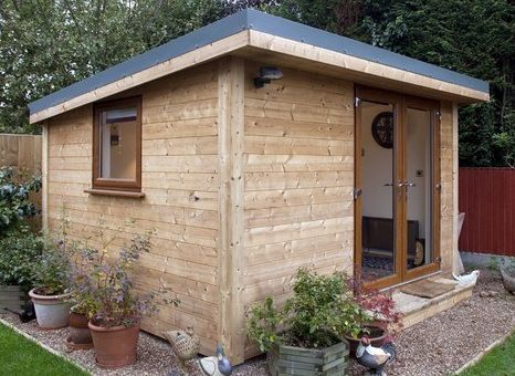 Flat roof shed design tool shed pinterest gardens for Modern garden shed designs