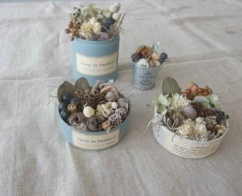 紫陽花リースと実の詰め合わせのワークショップ ドライフラワー dryflower|FLEURI blog