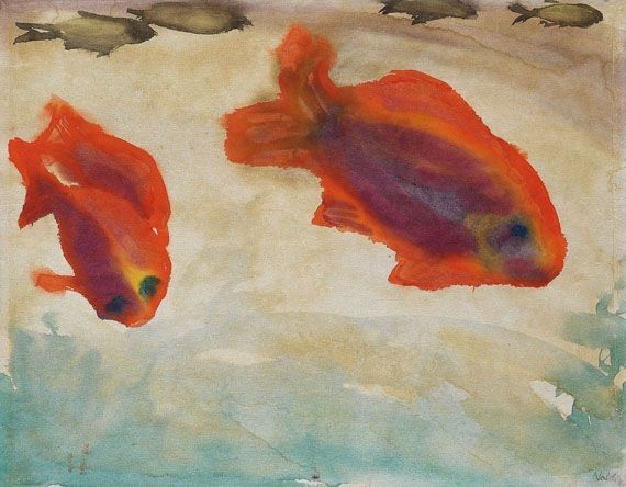 dionyssos: Emil Nolde Two red Fisch