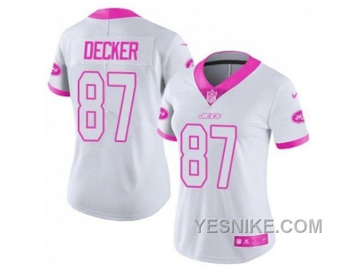 f5165b650cb3c ... get womens nike new york jets 87 eric decker white pink stitched nfl  limited rush fashion