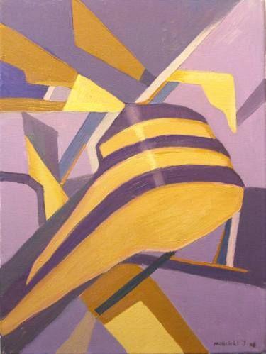 Emotion 2/ violet-yellow/ sketch of painting/ 30x40cm/ Igor Mościcki