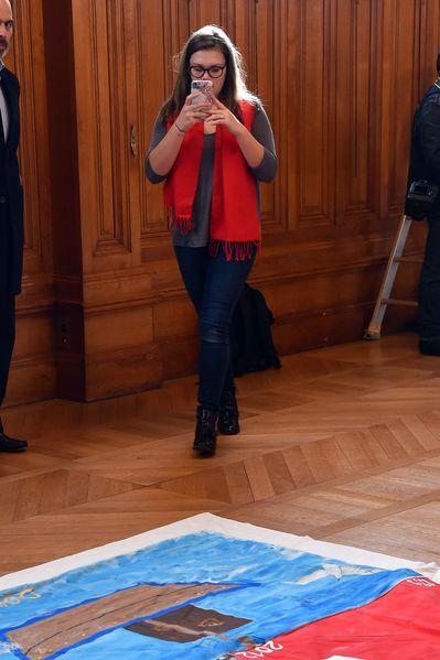 """La Princesse Stéphanie De Monaco Et Sa Fille Camille Gottlieb Au Déploiement Des """"Courtepointes"""" En Mémoire Des Victimes Du SIDA 15"""