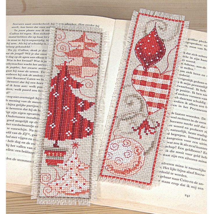 Christmas Trees and Ornaments Bookmarks - Cross Stitch, Needlepoint, Stitchery, and Embroidery Kits, Projects, and Needlecraft Tools | Stitc...