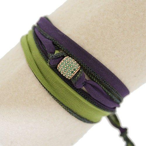 Bracciale/Collana colore verde acido/viola