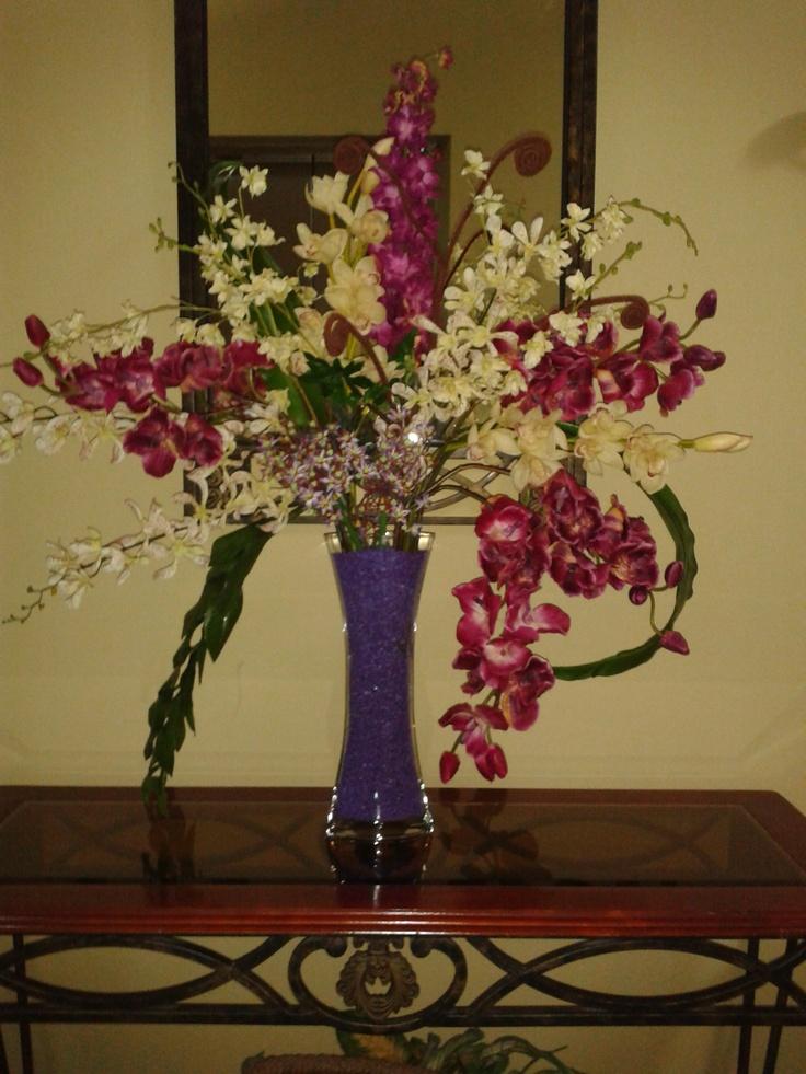 Arreglo con flores artificiales para lobby pa 39 arte - Arreglos de flores artificiales ...