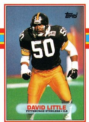 David Little was chosen in the seventh round (183rd pick overall) of the 198 draft by the Pittsburgh Steelers, and he played for the Steelers from 1981 to 1992. He was a middle linebacker for the team, at one point starting eighty-nine games in a row.   Little was selected to the Pro Bowl after the 1990 season.