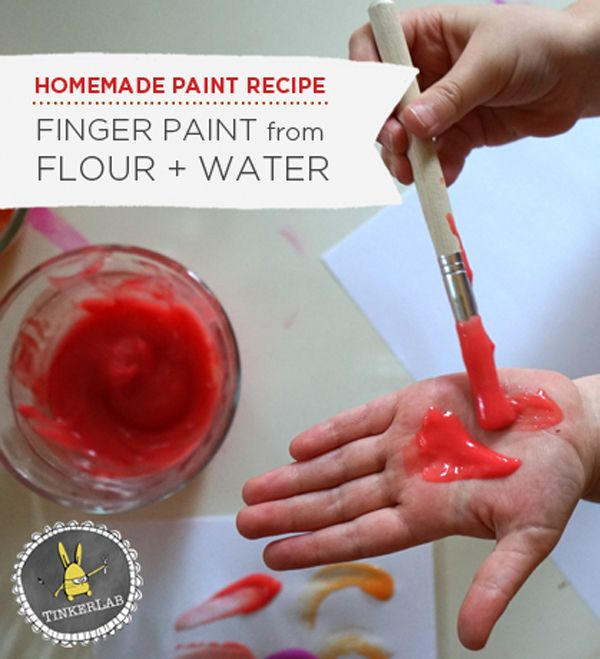 Easy homemade finger paint | So many great ideas from Tinkerlab.com, don't you think? Toddler art galore! Who's crafting with their toddler today? #toddlerart #crafting