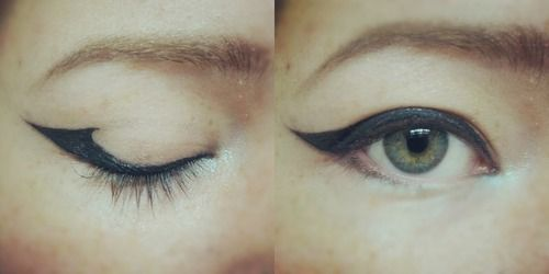 hooded eyelids. I'll try but it looks to difficult to be worth plain winged eyeliner.