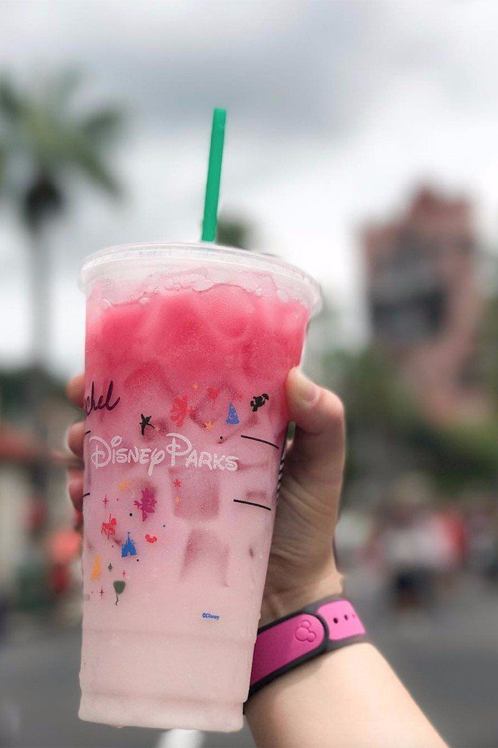 The Happiest Place on Earth Now Sells the New Starbucks Ombre Pink Drink!