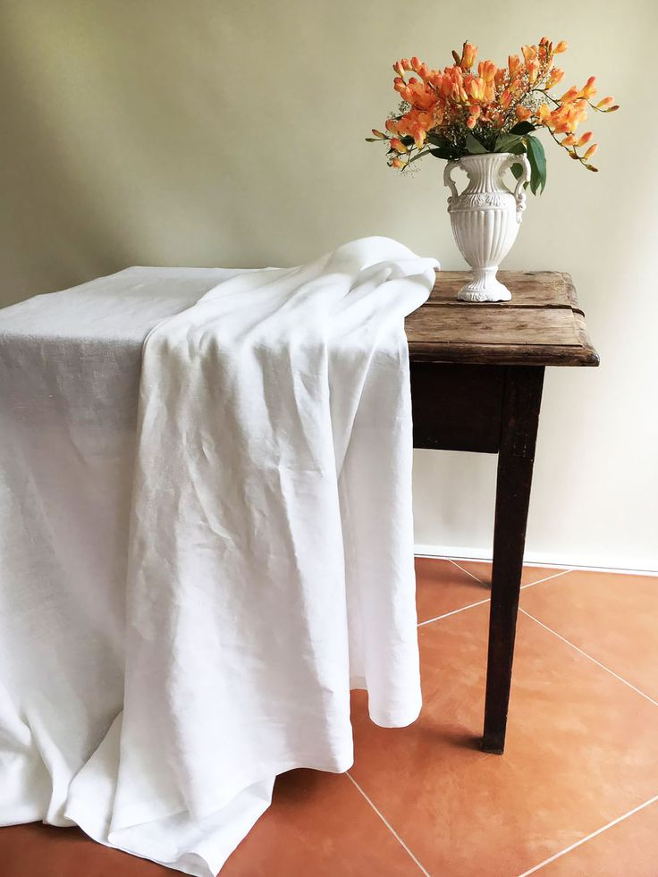 white linen table cloth pure white linen tablecloth rectangle tablecloth square pure white - Cloth Tablecloths