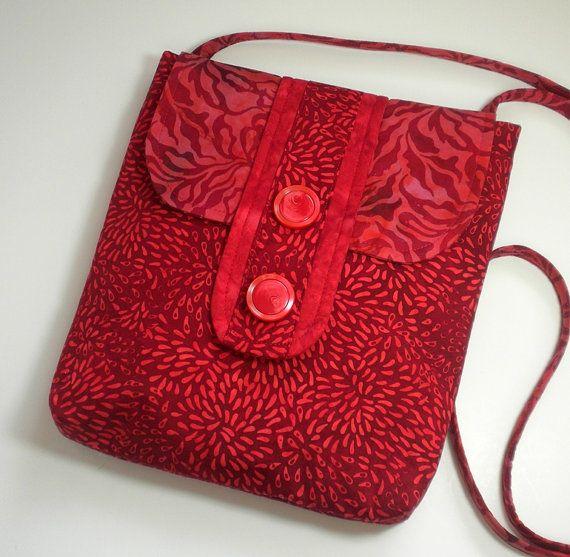 Cross body Sling Purse, Bright Cherry Christmas Red iPad Laptop Handbag, Travel Shoulder Bag, Messenger Purse Hipster, small Diaper bag on Etsy, $40.50