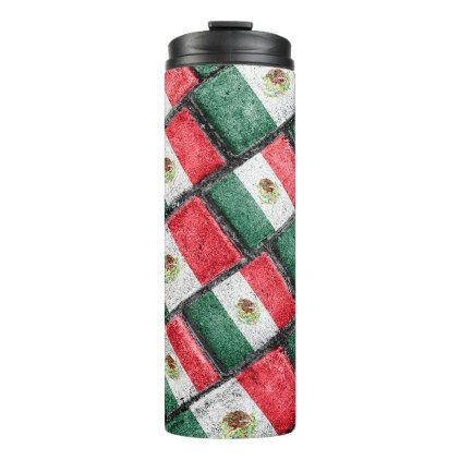 Mexican Flag Pattern Design Thermal Tumbler - patterns pattern special unique design gift idea diy