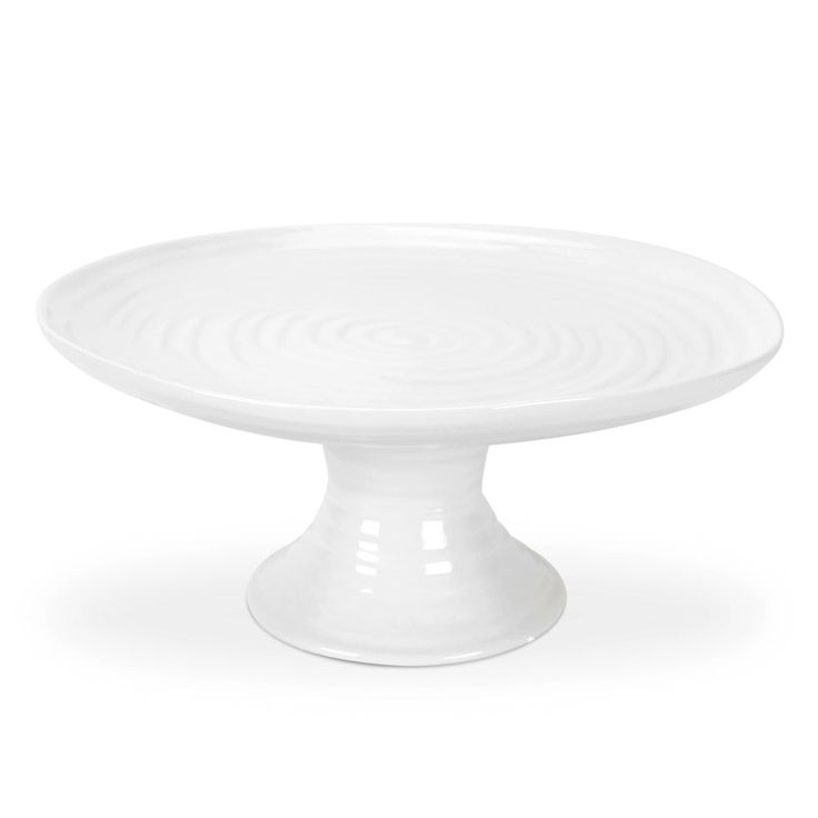 Sophie Conran for Portmeirion White Small Footed Cake Plate can be placed on top of the large cake plate to create a 2-tier cake stand. 24 x 10cm (9.5 x 3.9 inch) Product Code: CPW76898.  Herma's price: $50.00. To order call 905·885·9250. (Prices subject to change without notice)