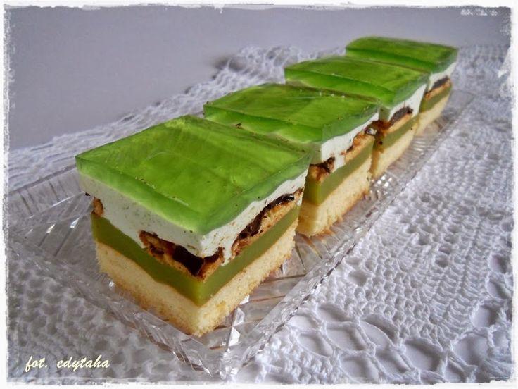 Kuchenne zapiski Edyty: Ciasto Shrek - zielona pychota