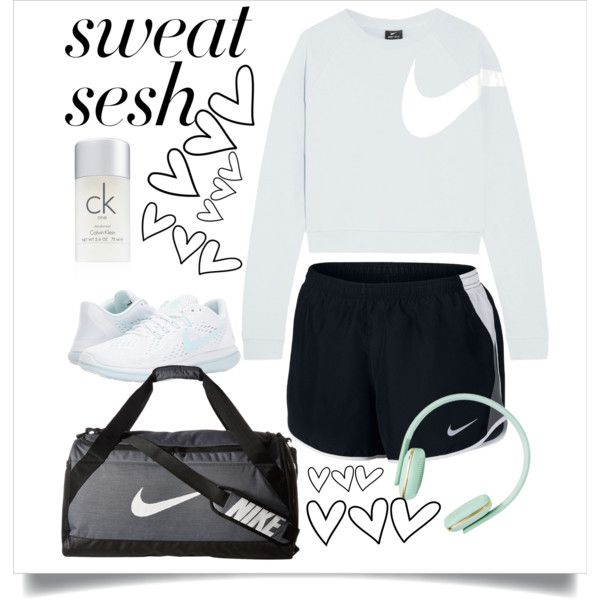 A fashion look from November 2017 featuring NIKE activewear tops, NIKE activewear shorts and NIKE athletic shoes. Browse and shop related looks.