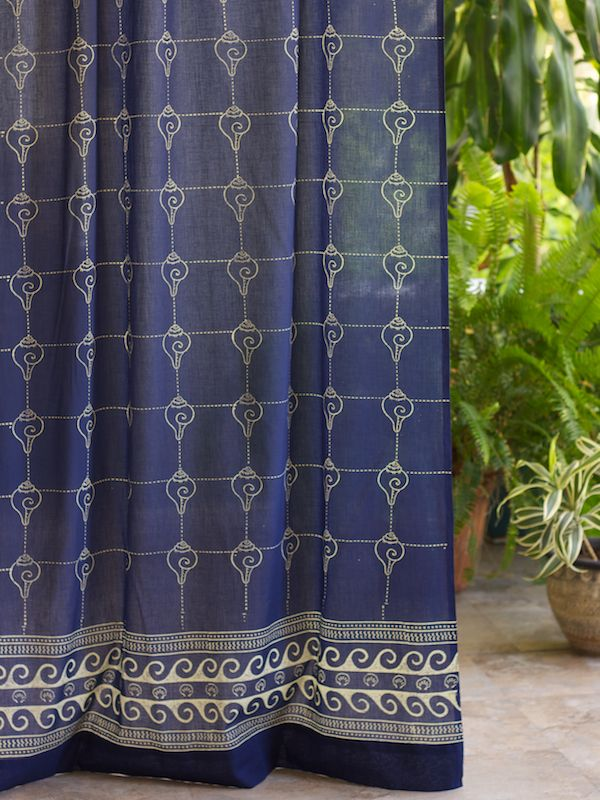 Rustic Navy Ocean Oriental Asian Cool CURTAIN (Complementary): Ocean  Gazingu2026 One Of