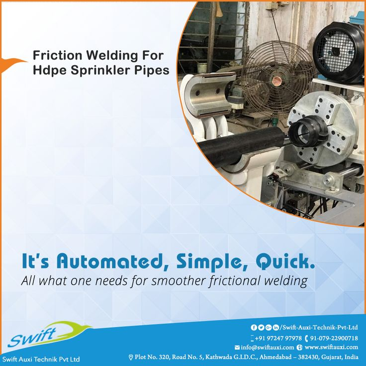 For bringing smoother frictional welding process, it needs a simple and quick automation which is assured by Friction Welding for Hpde Sprinkler Pipes for efficient performance.  #SwiftAuxiTechnikPvtLtd