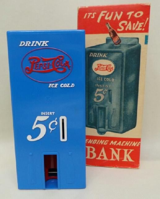 Great Pepsi Cola Bank with the original box for sale on www.icollect247.com