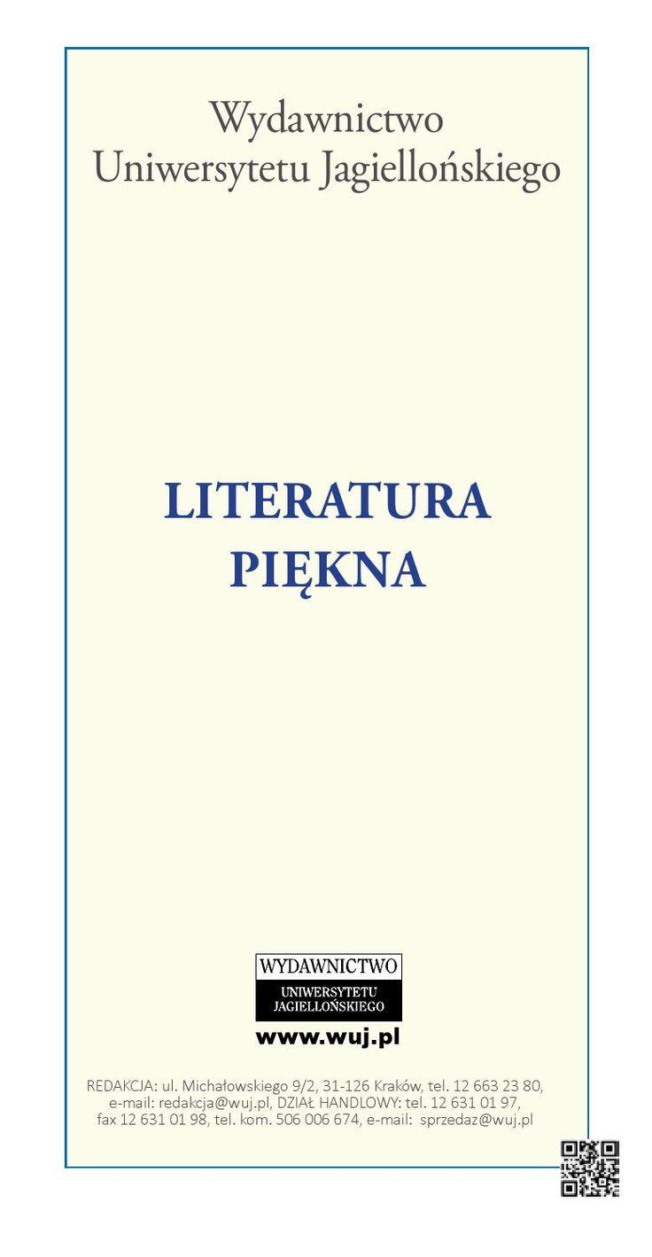 Literatura piękna  Wydawnictwo Uniwersytetu Jagiellońskiego