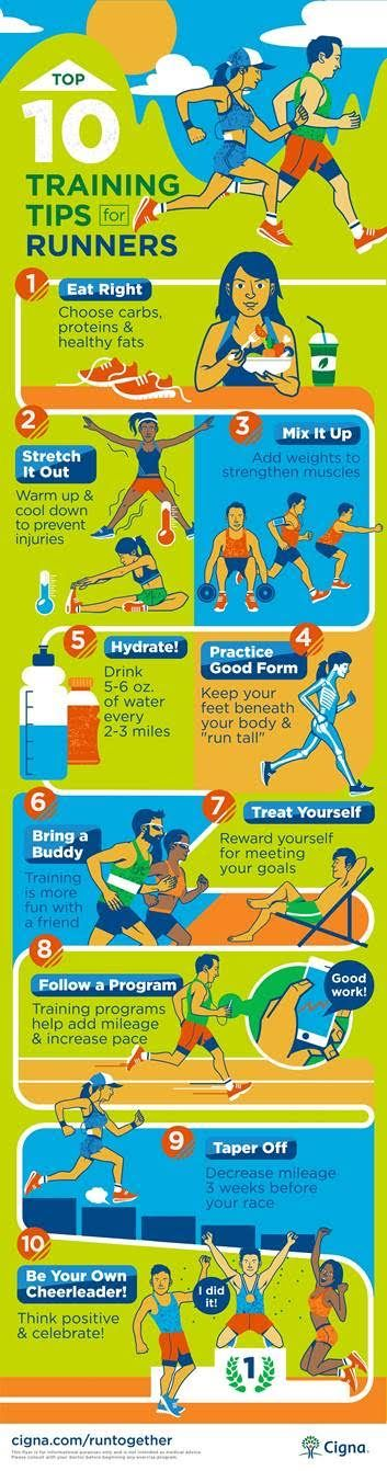 Are you training for race? Check out Cigna's Top Training Tips for Runners! | via My Pretty Brown