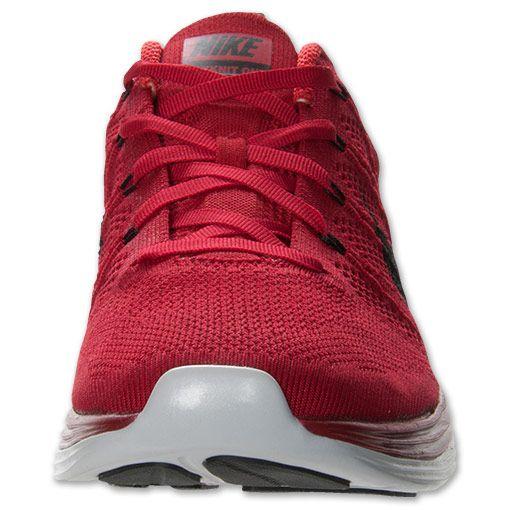 Lunarlon cushioning + Flyknit in a deep red - Nike Flyknit Lunar1+ Men\u0027s  Running Shoes |