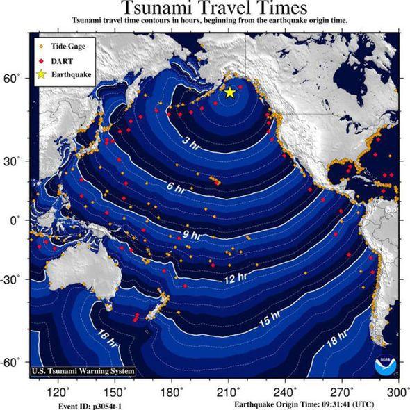 Alaska Earthquake map
