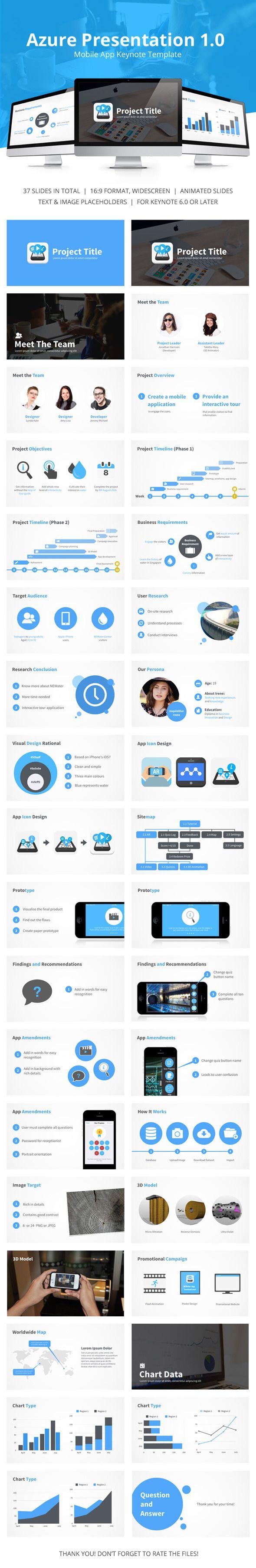 Azure Mobile App Presentation Template #design Download: http://graphicriver.net/item/azure-mobile-app-presentation/12328983?ref=ksioks