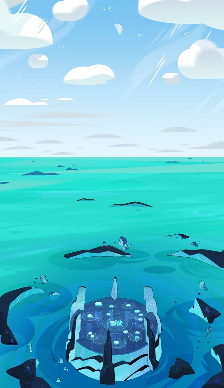 """ducksofrubber:      I've been art directing on Steven Universe for a little less than a year, and every once in a while I still get the opportunity to paint some backgrounds. Here are a few super fun layouts by Sam Bosma and Steven Sugar that I got to color for the last episode of StevenBomb 3.0, """"Friend Ship!"""""""