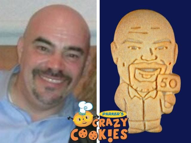 For a wonderful surprise for your husband's 50th birthday, contact Parker's Crazy Cookies. Our cookie twins make the best party favors...super clever and delicious!